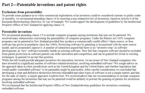 brevetti software nuova zelanda