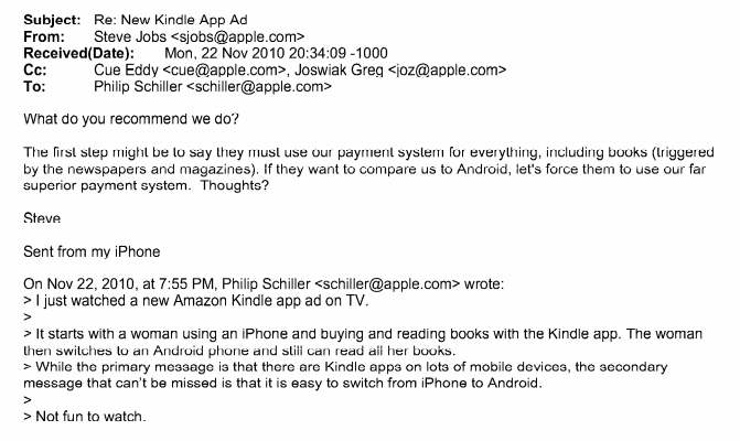 cartello ebook steve jobs email
