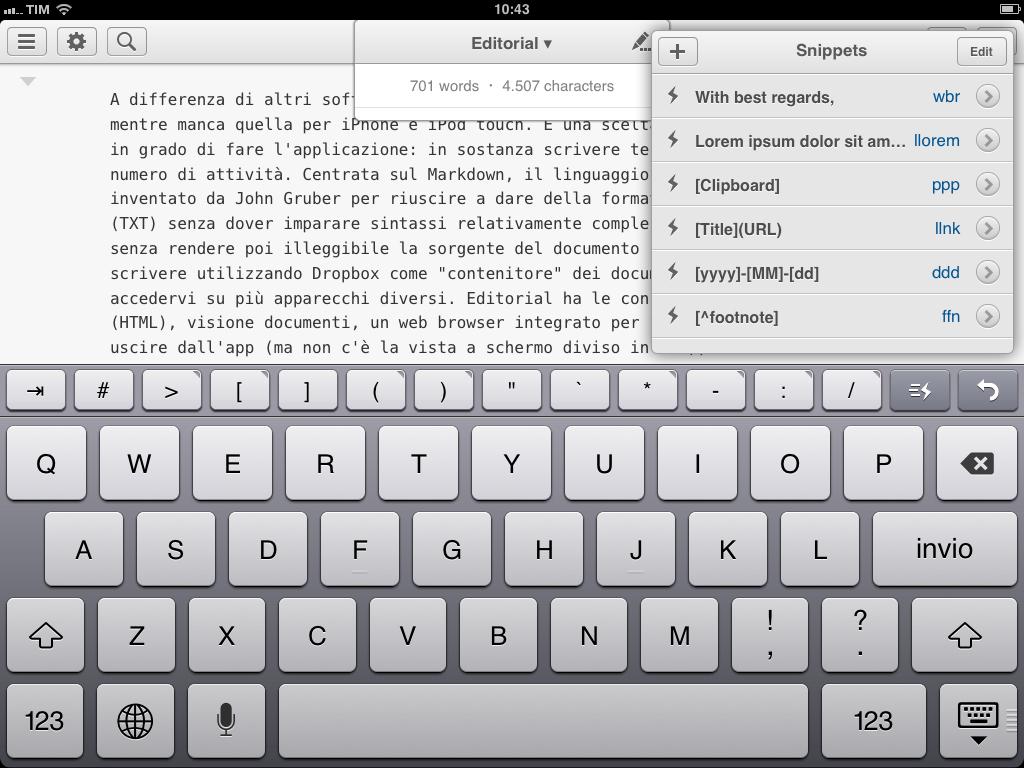 editorial per iPad