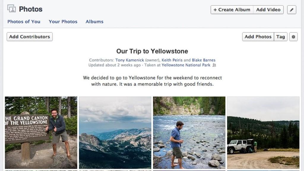 facebook foto album condivisi