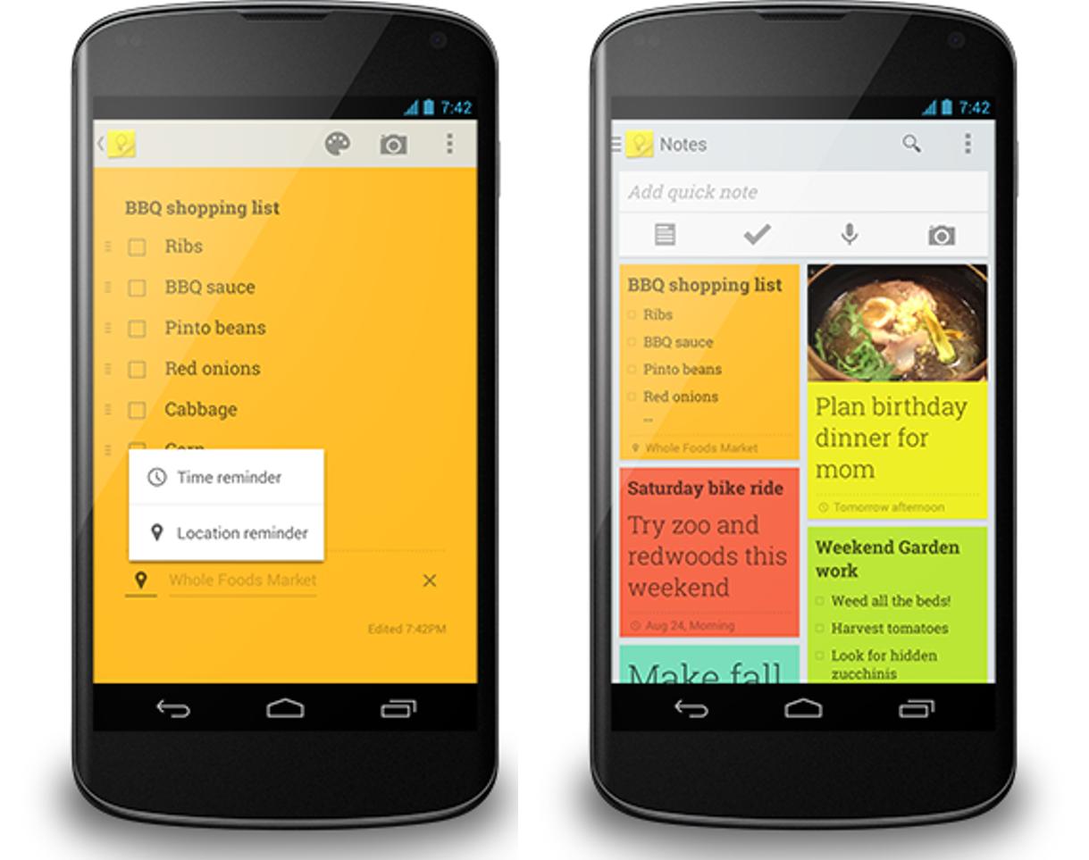 Google Keep si aggiorna con i promemoria, ma non per iOS