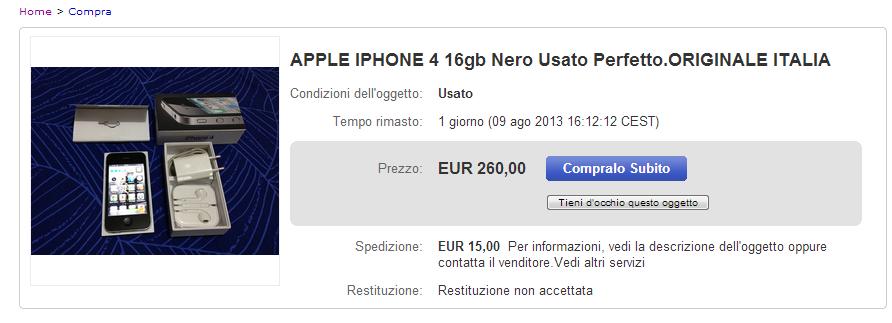 iphone 4 usato