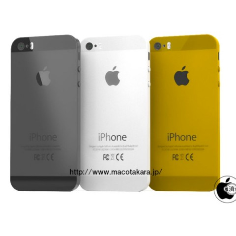 iPhone 5S arriverà anche in color oro, il nome di iPhone low cost sarà iPhone 5C?