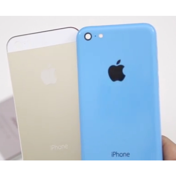 iPhone 5S oro e iPhone 5C blu: gli chassis mostrati in un video in alta qualità