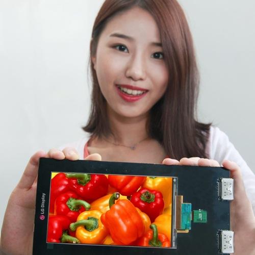 LG presenta il primo schermo per smartphone da 2560×1440 pixel con 538 pixel per pollice