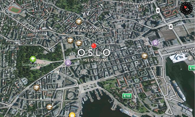 mappatura 3D di Oslo