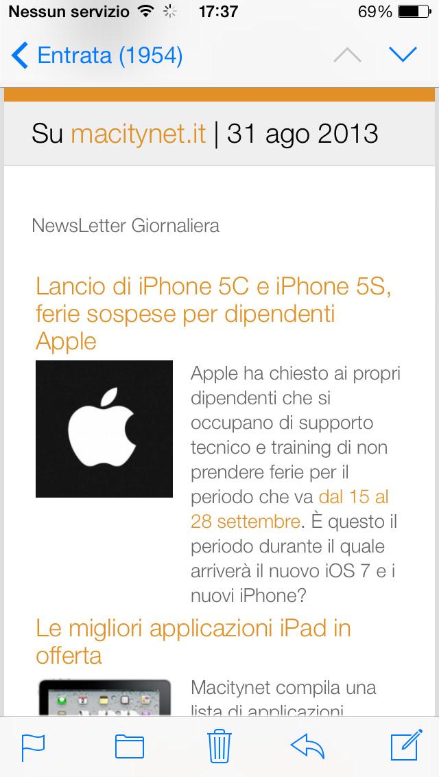 sito Mac, iPhone e iPad newsletter