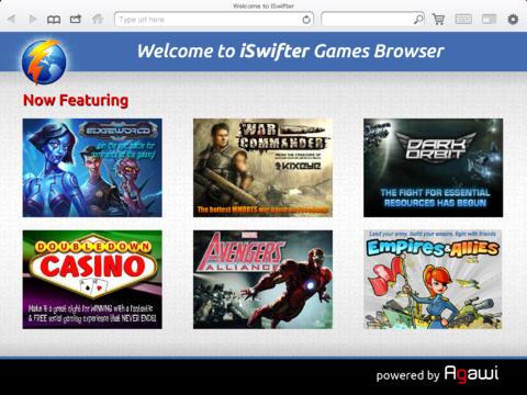 utilizzare Flash su iPad iswifter games