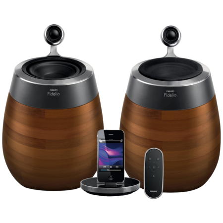 Philips Fidelio SoundSphere e Fidelio Primo,dock con Airplay per audiofili