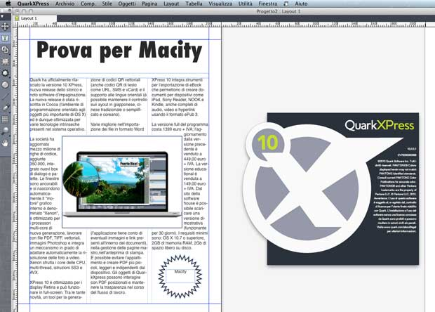 Quark XPress non è compatibile con OS X 10.9 Mavericks