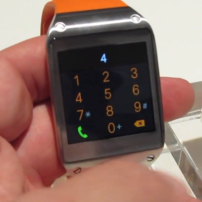 Il video dell'interfaccia del Galaxy Gear