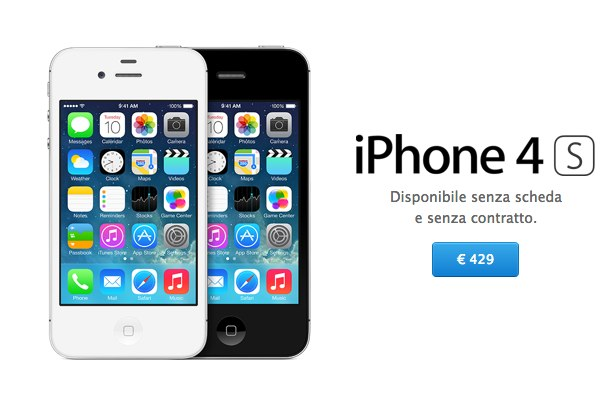 iPhone low cost? in Italia ci si deve consolare con iPhone 4S