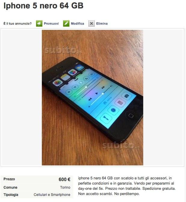 iphone 5 non usati