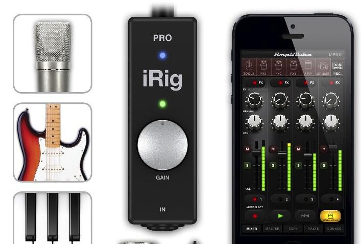 IK multimedia iRig Pro, audio e midi insieme per iPhone, iPad e Mac