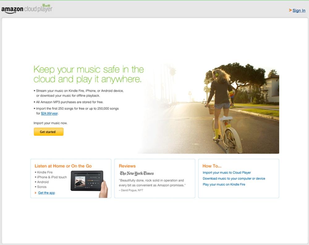 Amazon MP3 Cloud Player 1000