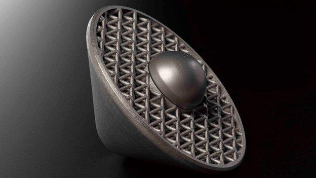Esempio metallo stampato in 3d