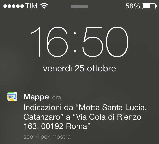 Notifiche Mappe su IOS7