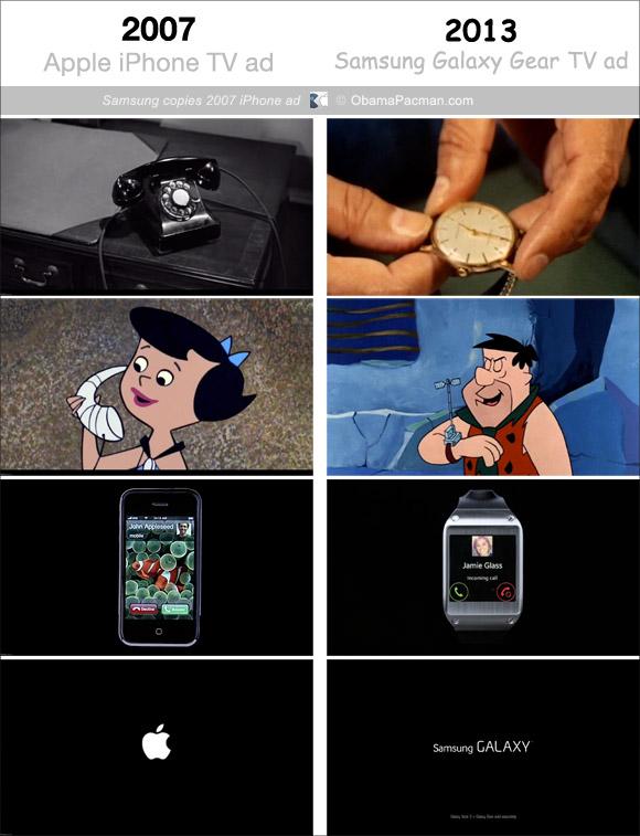 """Samsung Galaxy Gear, lo spot """"ispirato"""" a una pubblicità Apple"""