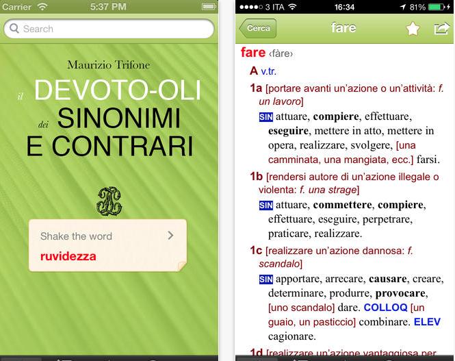 Devoto-Oli Sinonimi e Contrari per iOS: uno strumento ...