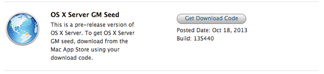 OS X 10.9 Server GM