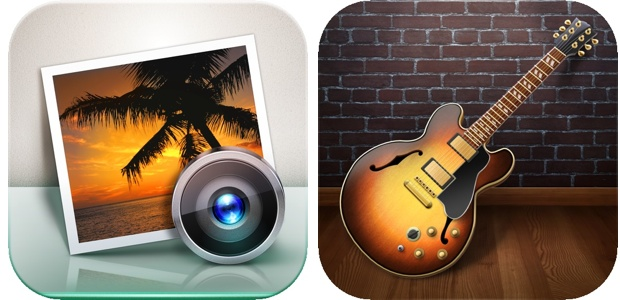 iPhoto e Garageband iOS old 1