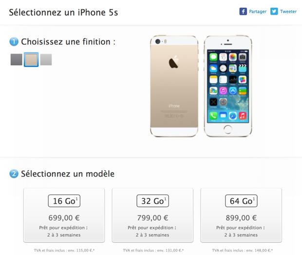 iphone 5s tempi 620 fr
