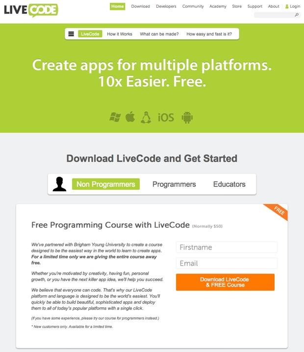 livecode sito web