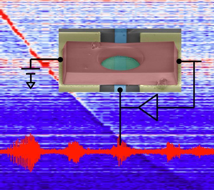 Il posizionamento di uno strato di atomi di grafene in un circuito provoca l'autoscillazione spontanea, utilizzabile per generare segnali in FM.