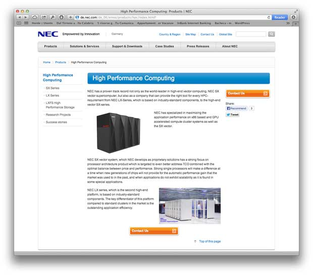 Nec supercomputer