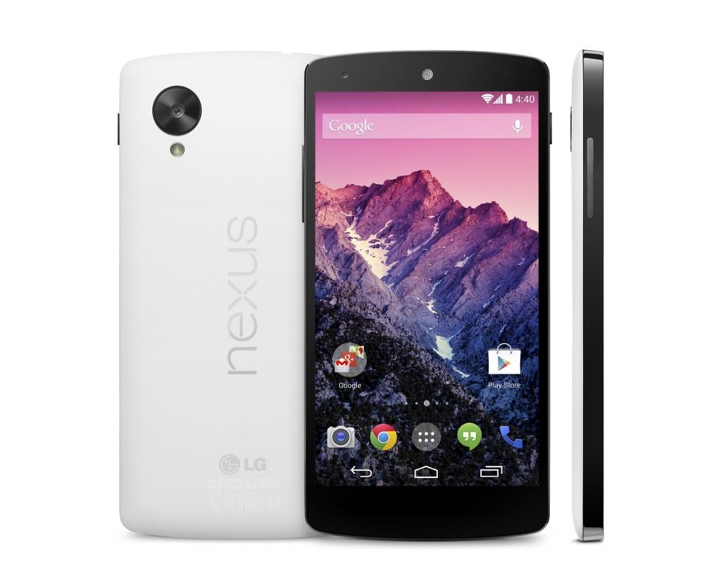 google e lg Nexus 5 - trio - white