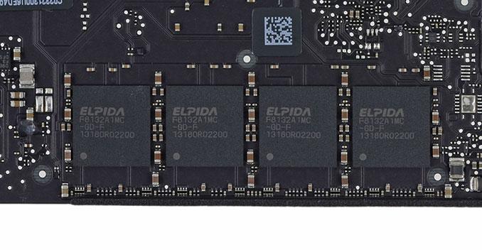 La memoria LPDDR3 (da iFixit)