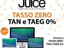 Juice: Mac a Tasso Zero, iPhone e iPad a rate e tutte le offerte del volantino di Natale