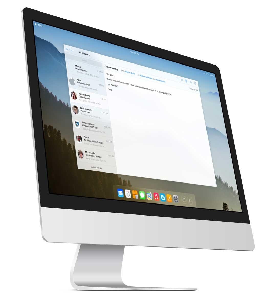 OS X ispirato a iOS 7, ecco come lo immagina un blogger
