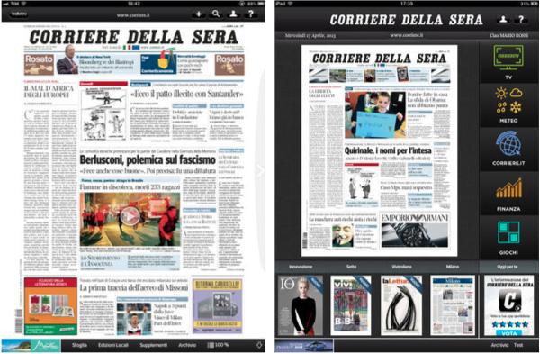 Corriere della sera digital edition per ipad ora con for Corriere della sera arredamento