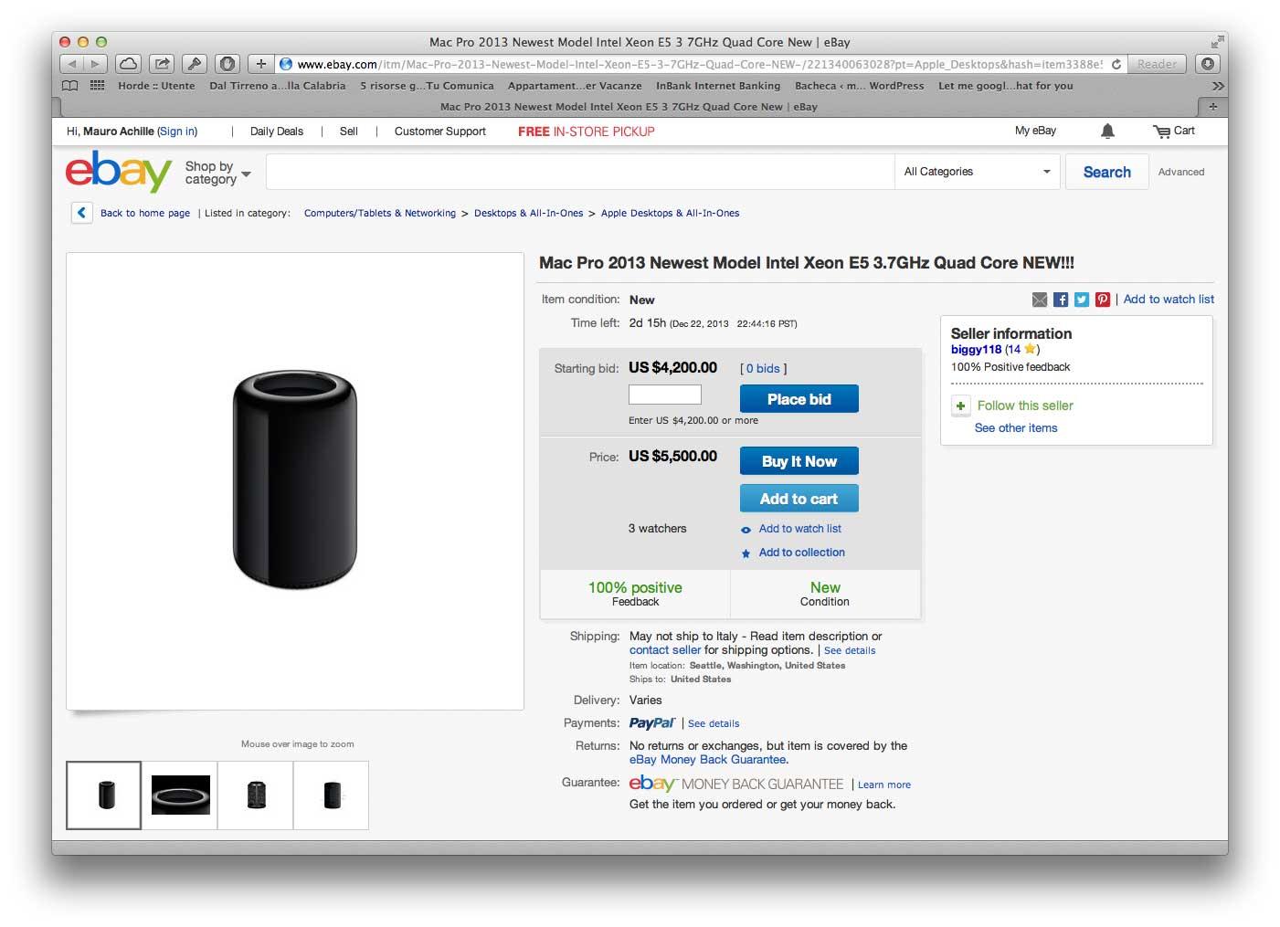 Nuovo Mac Pro su eBay