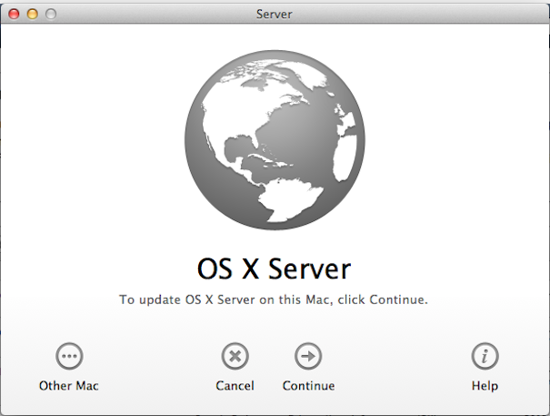 Aggiornamenti per OS X Server