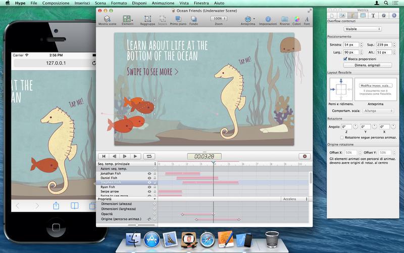 animazioni HTML5 Hype esempio