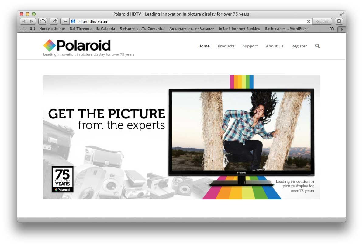 Sito web Polaroid