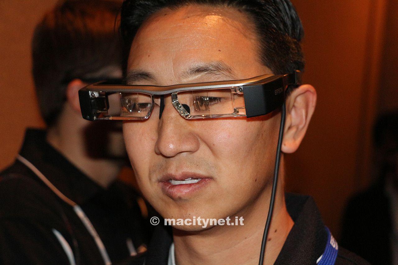 CES 2014, Moverio BT-200, occhiali Epson per realtà aumentata