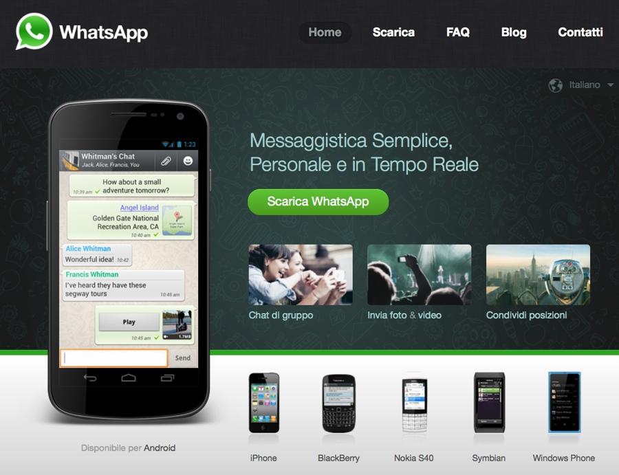 whatsapp sito web 20gen