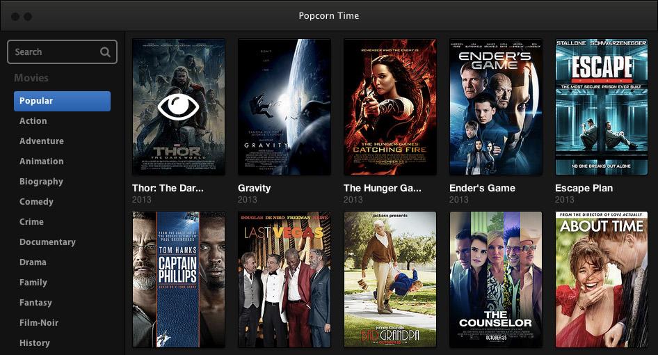 Popcorn Time per Mac visualizza in streaming i film Torrent - Macitynet.it