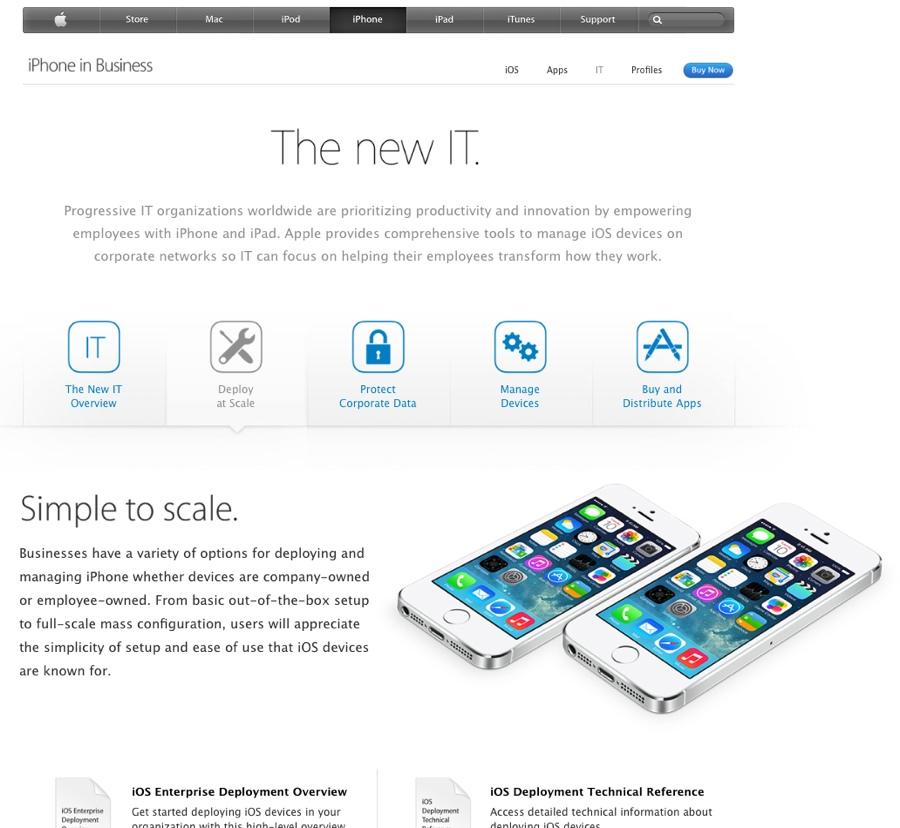 flotte di iphone e ipad apple mdm