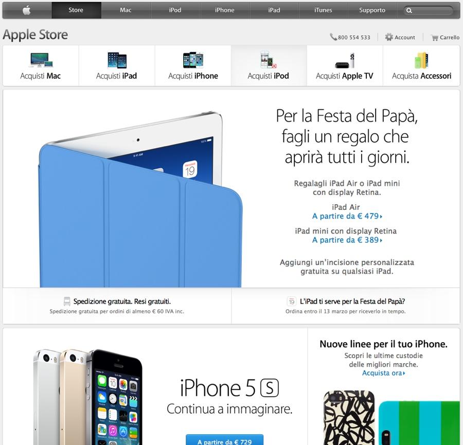festa del papà apple store online 900