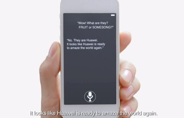 huawei spot apple siri iphone samsung