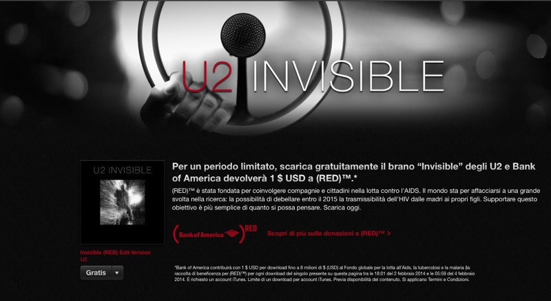 invisible U2 RED