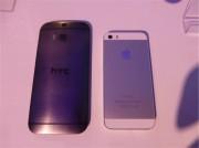 HTC One e iphone 5s 2