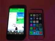 HTC One e iphone 5s 6