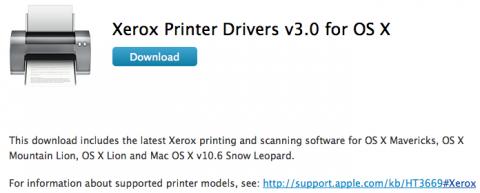 Driver stampanti Epson e Xerox