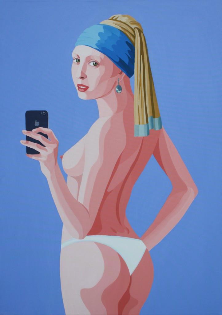 Selfie, 2014, acrilico su tela, cm 100x70