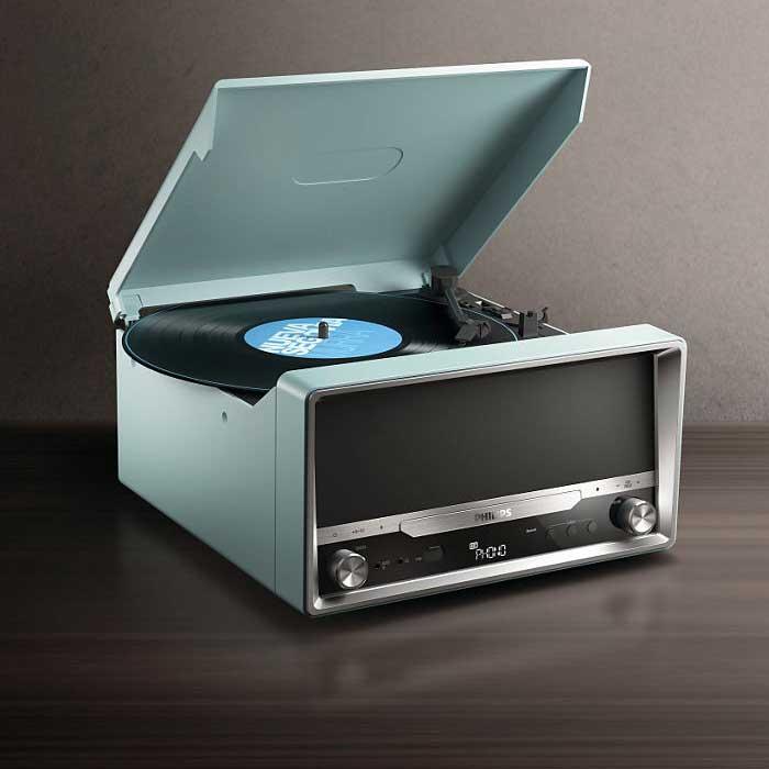 Philips OTT2000, giradischi per vinile, lettore CD e MP3, connessione Bluetooth, ora solo 128 euro